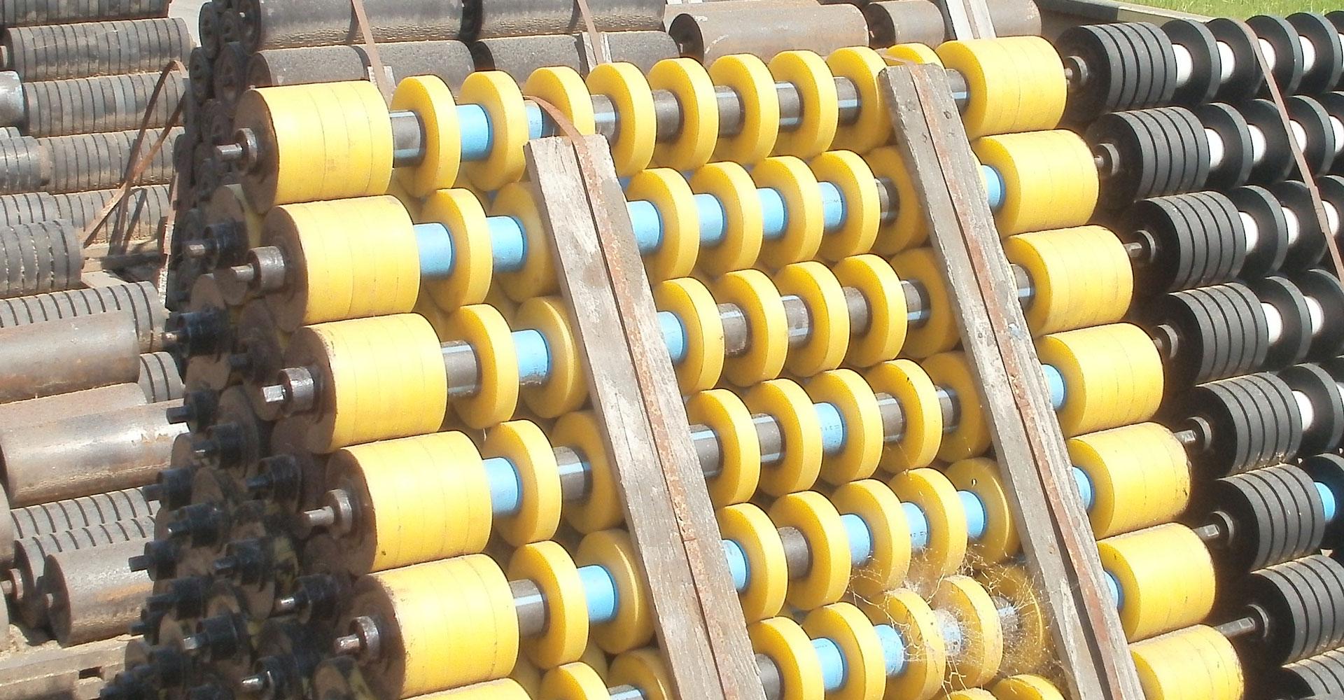 Krążniki oraz pierścienie poliuretanowe do przenośników taśmowych